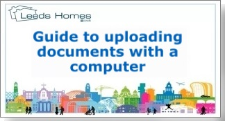 Guide to uploading documents with a computer